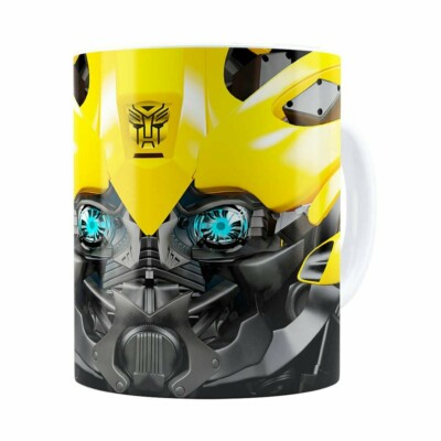 Caneca Bumblebee 3d Print Transformers Branca