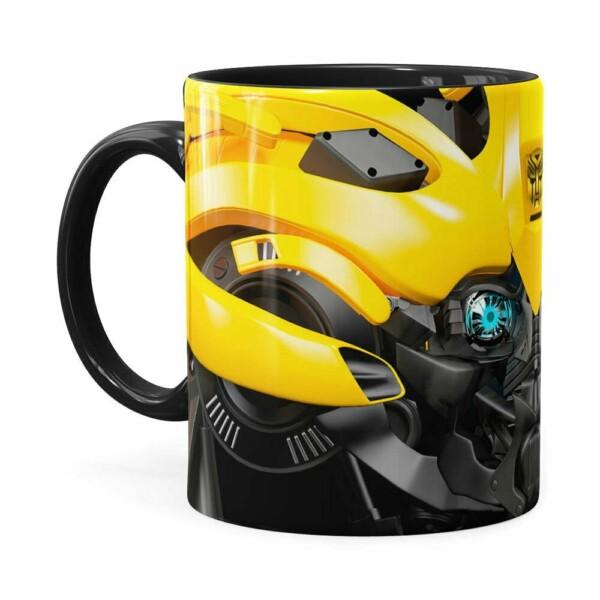 Caneca Bumblebee 3d Print Transformers Preta