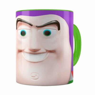 Caneca Buzz Lightyear 3d Print Toy Story Verde