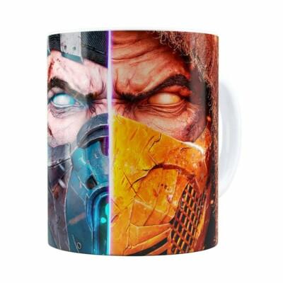 Caneca Mortal Kombat 3d Print Branca