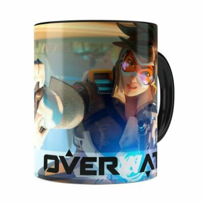 Caneca Overwatch Game 3d Print V04 Preta