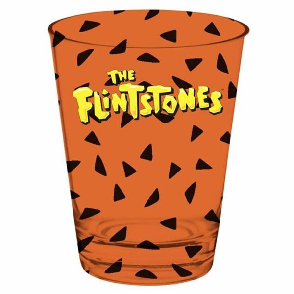 2 Copos Caldereta Fred Flintstones Vidro 312ml