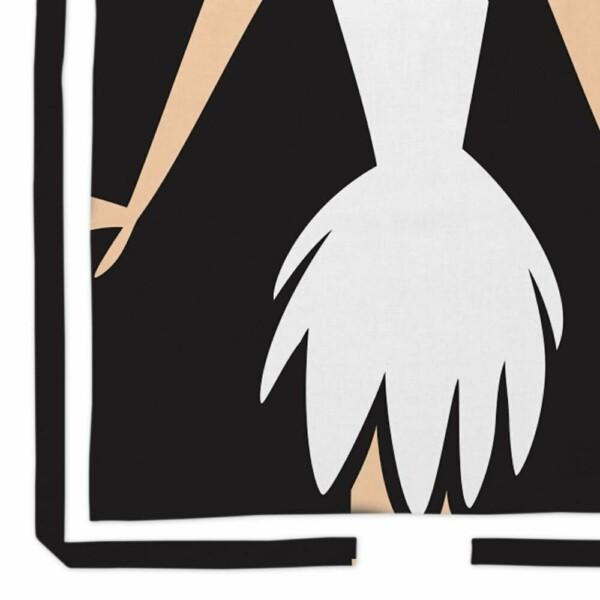 Avental Flintstones Vilma Body Algodão 80x70cm
