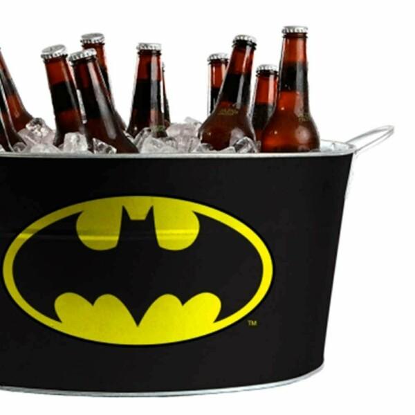 Balde De Gelo Batman Preto Em Metal