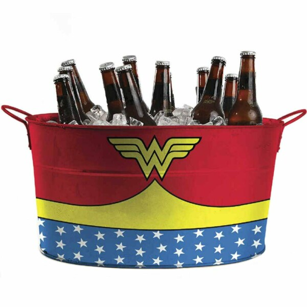 Balde De Gelo Wonder Woman Customs Em Metal