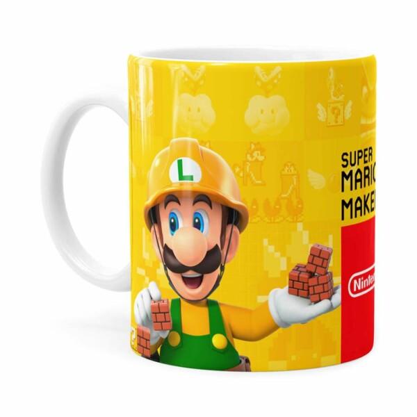 Caneca 3d Print Super Mario Maker 2 Branca