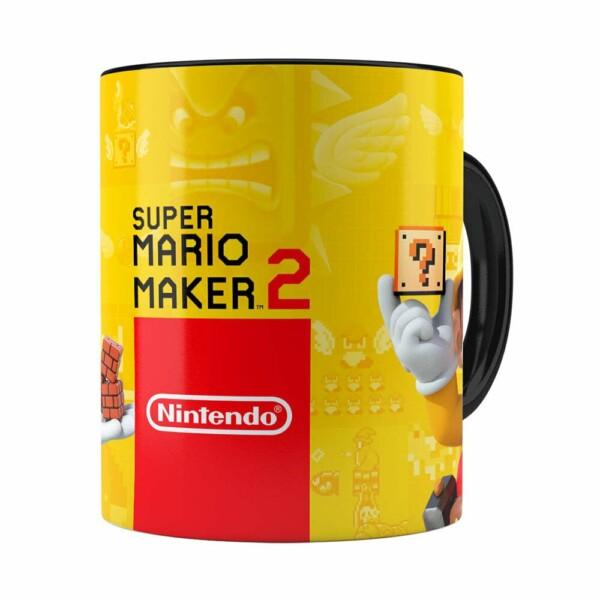Caneca 3d Print Super Mario Maker 2 Preta