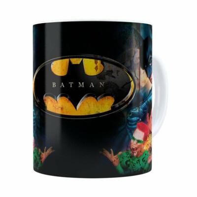 Caneca Batman Forever 3d Print Retrô Branca