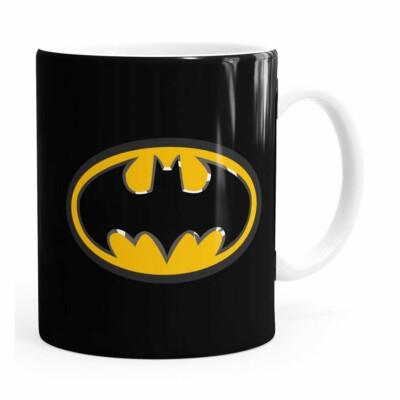 Caneca Batman Logo Branca