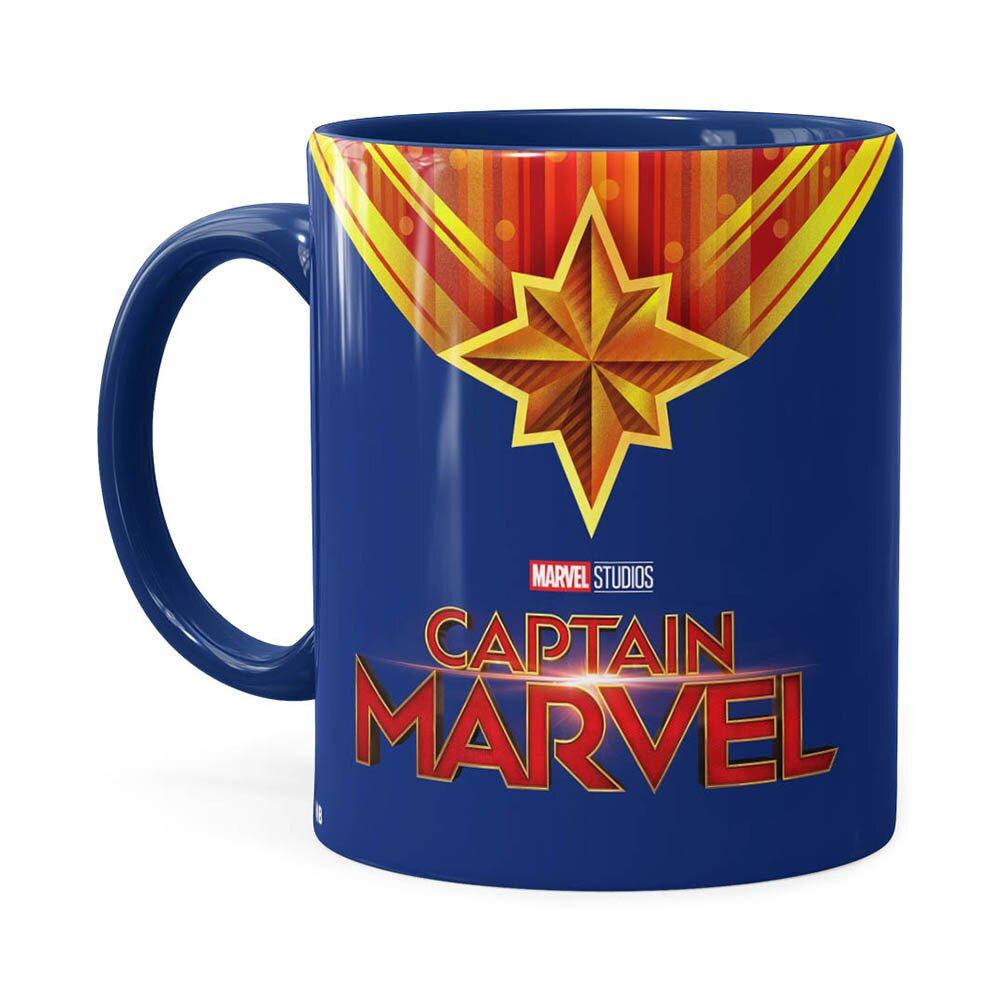 Caneca Capitã Marvel Filme V01 Azul Escuro