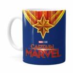 Caneca Capitã Marvel Filme V01 Branca