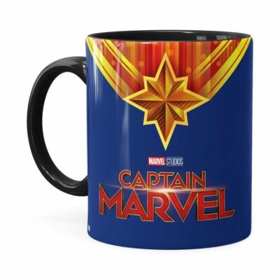 Caneca Capitã Marvel Filme V01 Preta