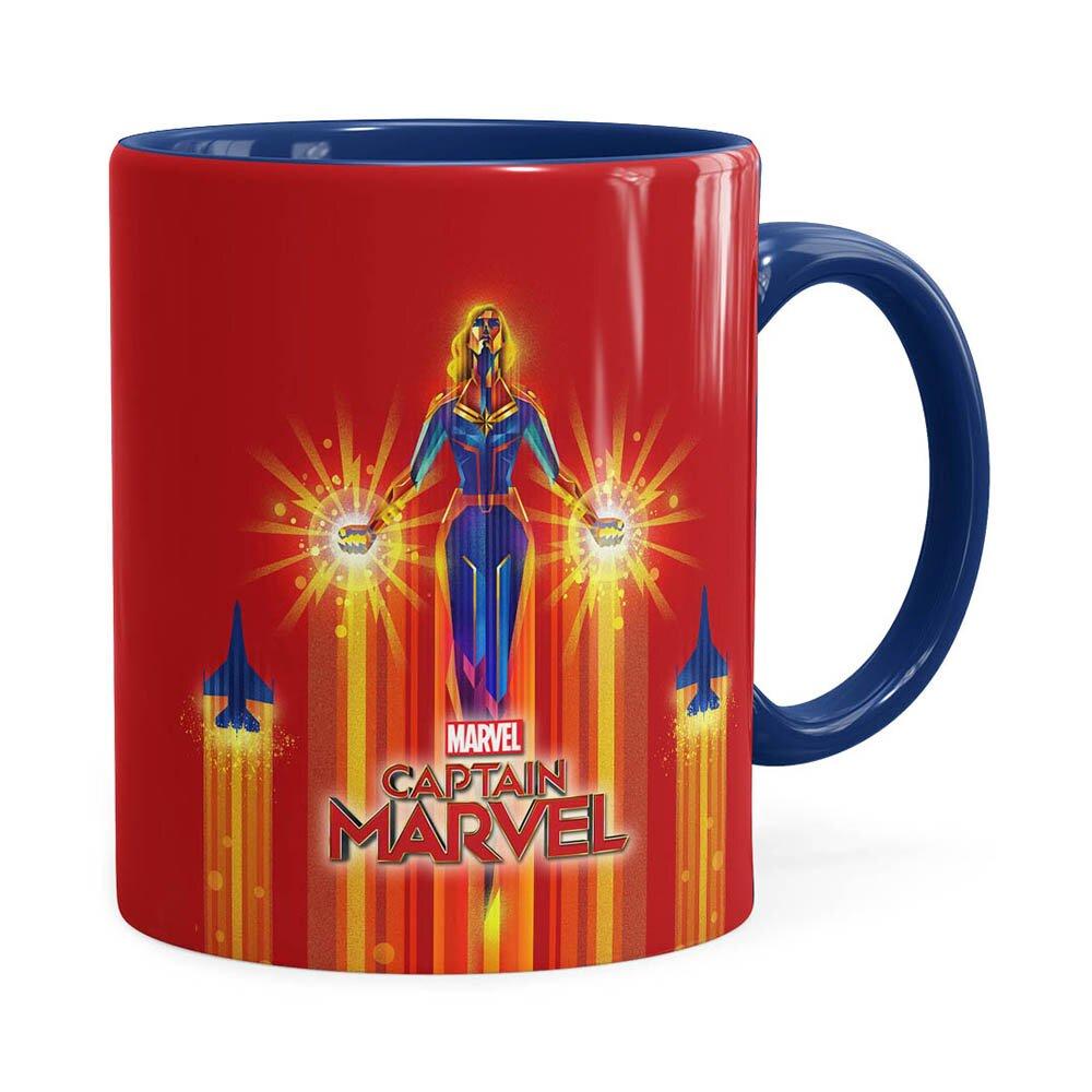 Caneca Capitã Marvel Filme V02 Azul Escuro