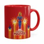 Caneca Capitã Marvel Filme V02 Vermelha