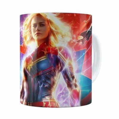 Caneca Capitã Marvel Filme V03 Branca