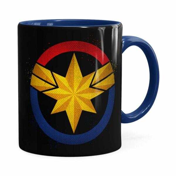 Caneca Capitã Marvel Filme V04 Azul Escuro