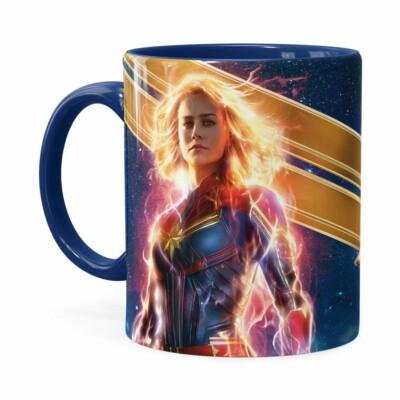 Caneca Capitã Marvel Filme V05 Azul Escuro