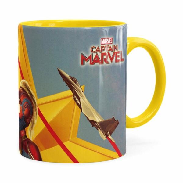 Caneca Capitã Marvel Filme V06 Amarela