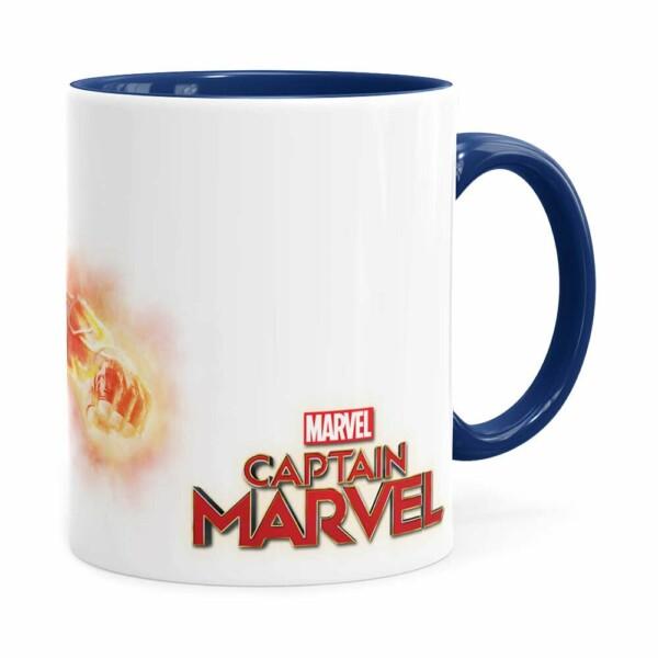 Caneca Capitã Marvel Filme V07 Azul Escuro
