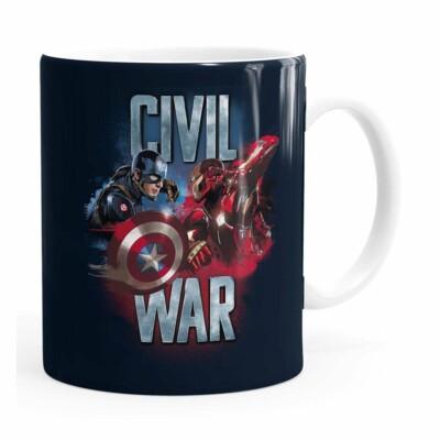 Caneca Capitão América Guerra Civil V02 Branca