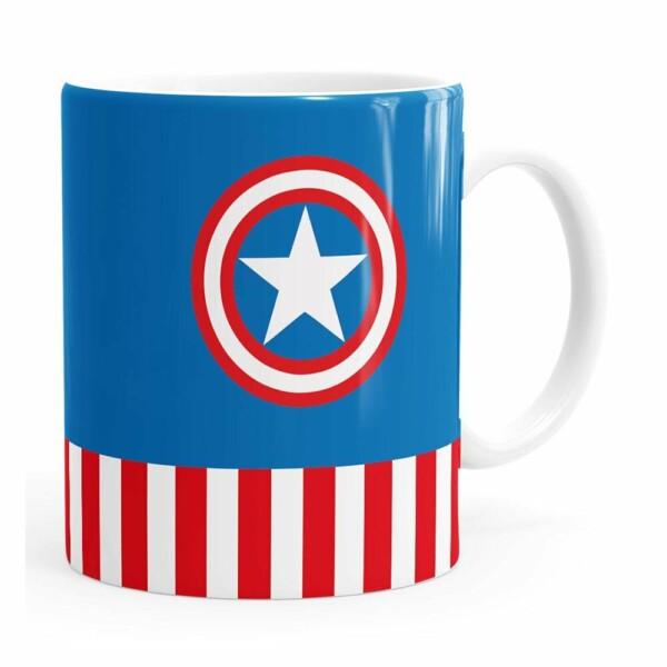 Caneca Capitão América V02 Branca
