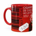 Caneca Chocolate Cigarrinhos Do Mussum Vermelha