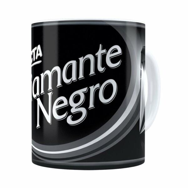 Caneca Chocolate Diamante Negro Barra Branca