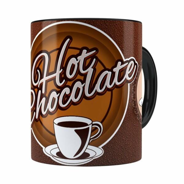 Caneca Chocolate Hot Chocolate Preta