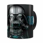 Caneca Darth Vader 3d Print Star Wars Blue Preta