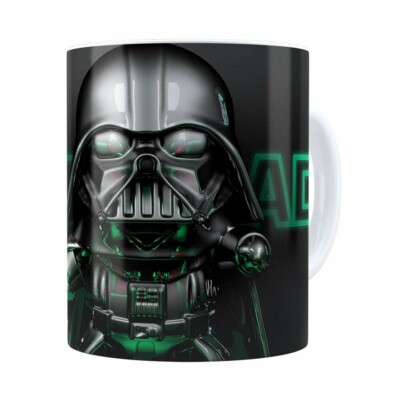 Caneca Darth Vader 3d Print Star Wars Green Branca