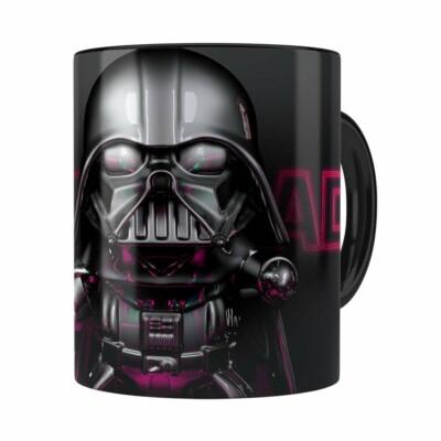 Caneca Darth Vader 3d Print Star Wars Violet Preta