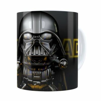 Caneca Darth Vader 3d Print Star Wars Yellow Branca