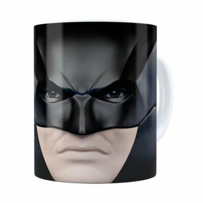 Caneca Do Batman 3d Print Face Branca