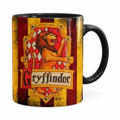 Caneca Harry Potter Gryffindor Preta