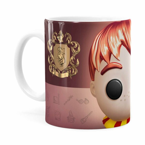 Caneca Harry Potter Ron 3d Print Branca