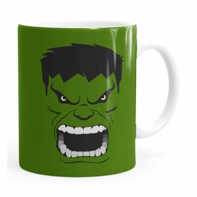 Caneca Hulk Anime Branca