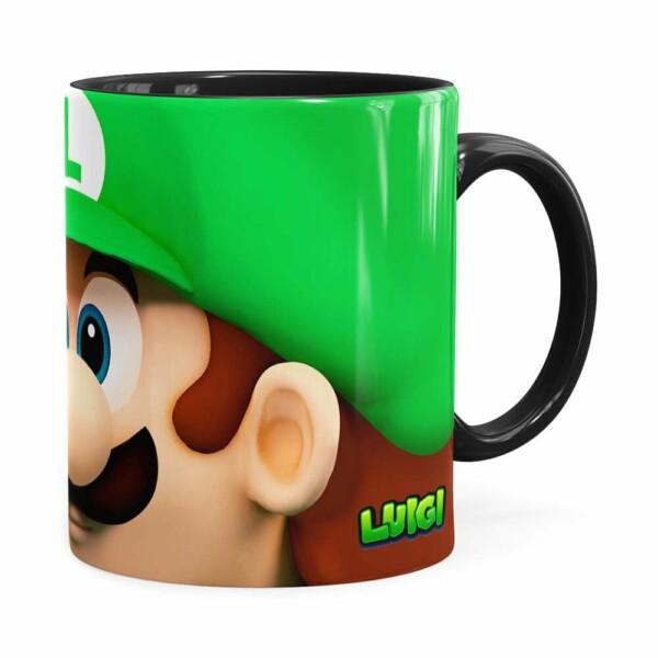 Caneca Luigi 3d Print Super Mario Preta