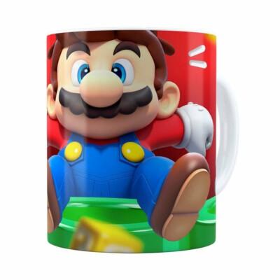 Caneca Mario 3d Print Susto Super Branca