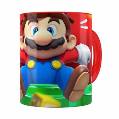 Caneca Mario 3d Print Susto Super Vermelha