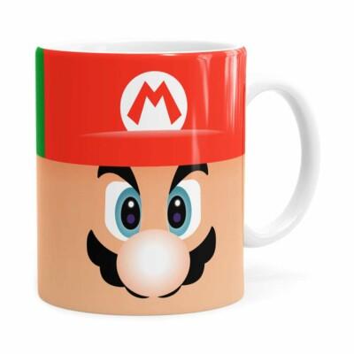 Caneca Mario E Luigi Super Mario Bros Faces Branca