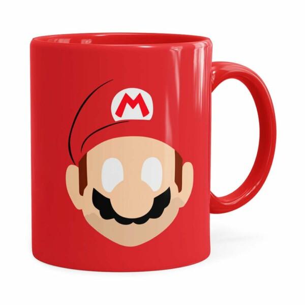 Caneca Mario Super Mario Bros Minimalista Vermelha
