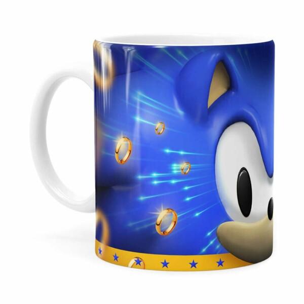 Caneca Sonic 3d Print Branca