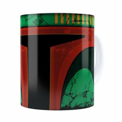 Caneca Star Wars Boba Fett 01 Cabeça Branca