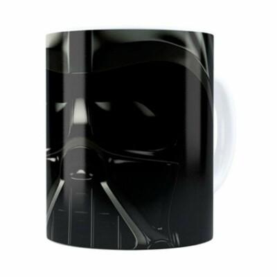 Caneca Star Wars Darth Vader V01 Cabeça Branca