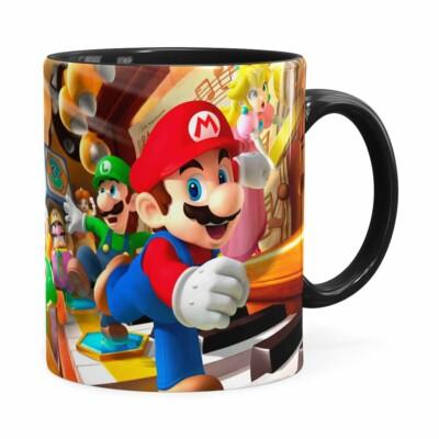 Caneca Super Mario Piano 3d Print Preta