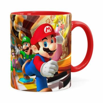 Caneca Super Mario Piano 3d Print Vermelha