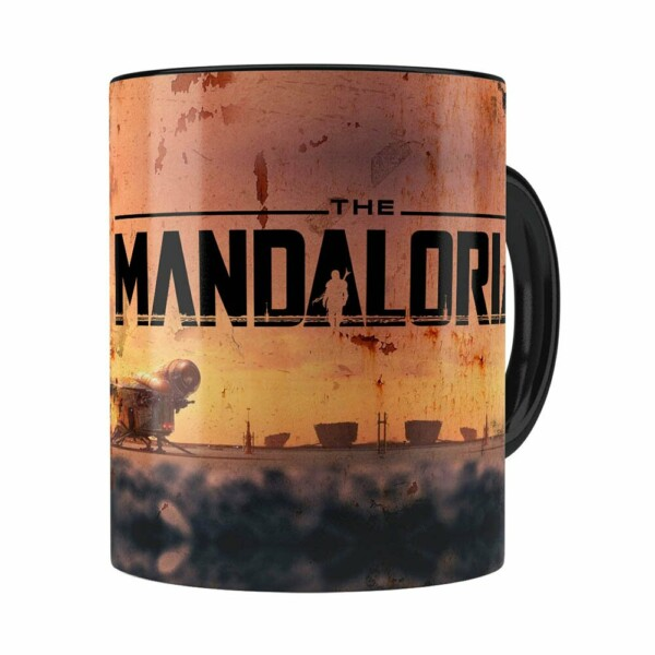 Caneca The Mandalorian 3d Print Preta