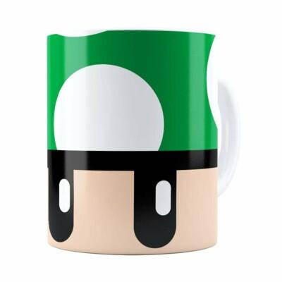 Caneca Toad Super Mario Bros Verde Branca
