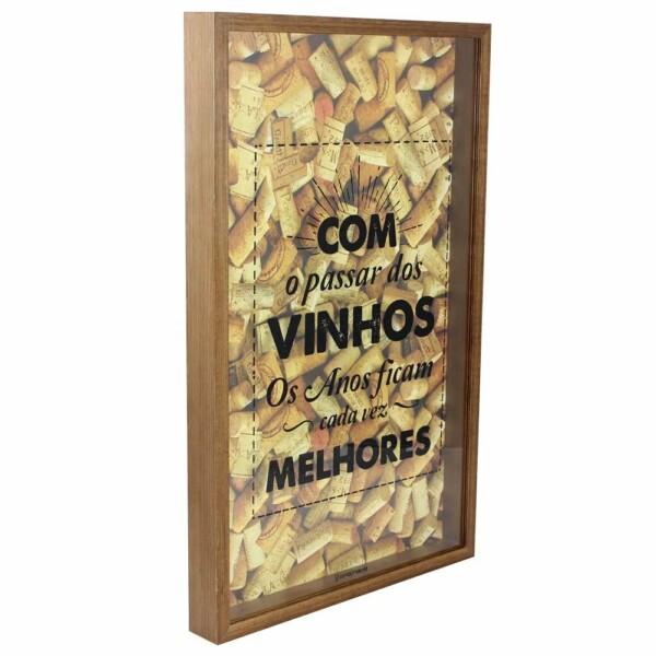Quadro Coleção De Rolhas Vinhos Melhores