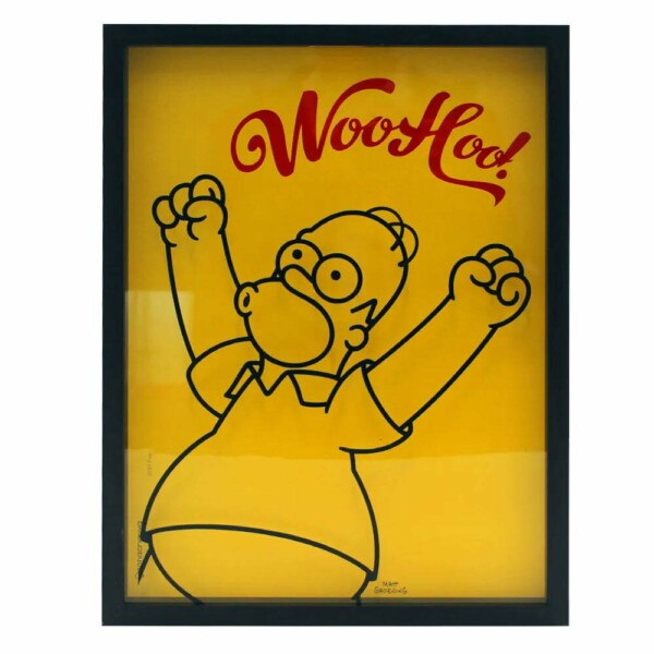 Quadro Coleção De Tampas Homer Woo Hoo